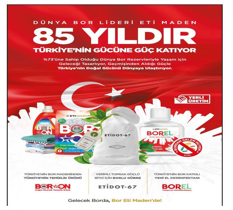 Dünya Bor Lideri Maden 85 yıldır Türkiye'nin gücüne güç katıyor