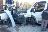 Dinar'da trafik kazası: 2 yaralı
