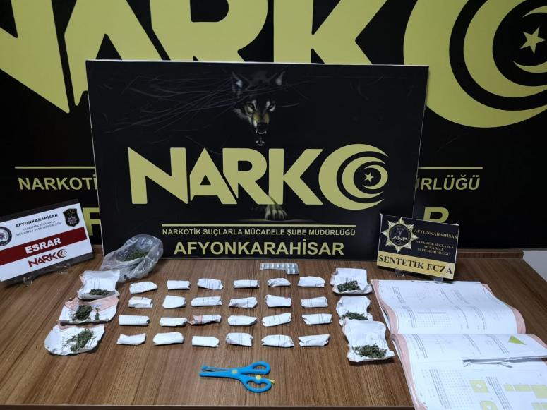 Afyonkarahisar'da uyuşturucu operasyonunda 2 şüpheli yakalandı