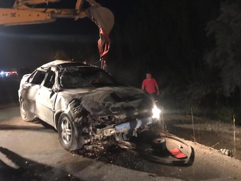 Araç devrildi: 2 ölü 4 yaralı