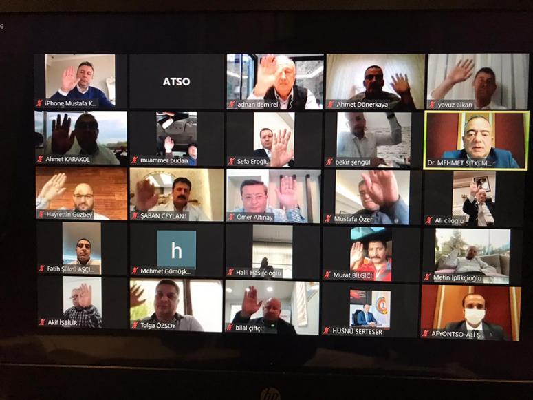 ATSO'nun mart ve nisan ayları meclis toplantıları, video konferans ile yapıldı