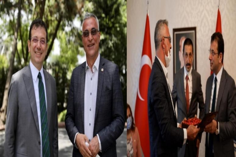 Başkan Yıldız Ekrem İmamoğlu'na Dereçine'yi ve kirazı anlattı