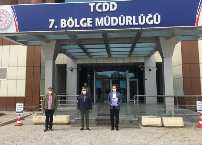 Başkan Çöl'den TCDD Bölge Müdürlüğü'ne ziyaret