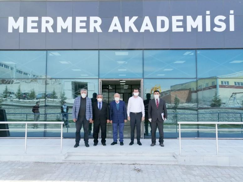 Başkan Şahin, Mermer Akademisi'nde