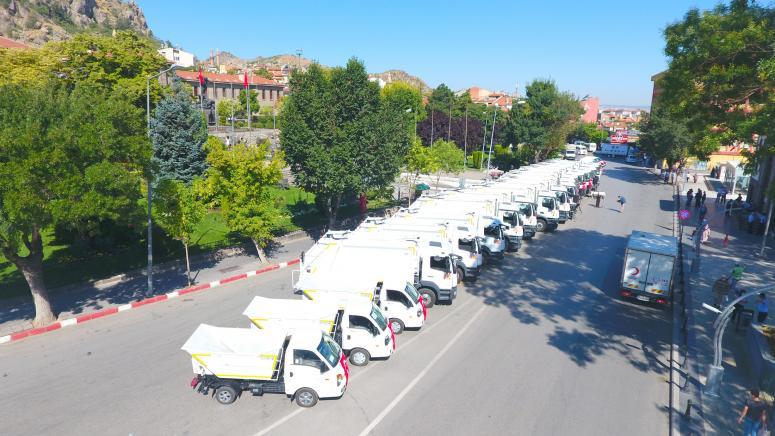 Belediye 31 yeni aracı belediye araç filosuna kattı