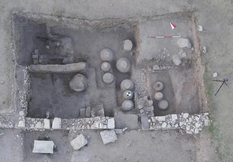 Emirdağ'da Bizanslı'lardan kalma tahıl ambarı bulundu