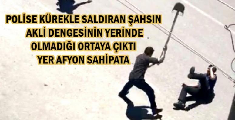 POLİSE KÜREKLE SALDIRI