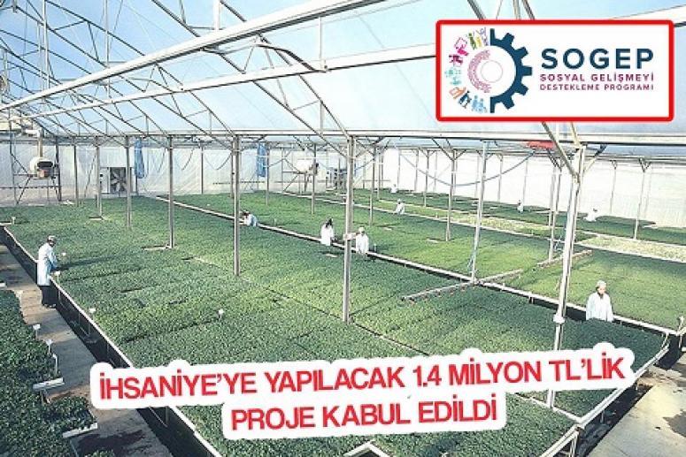 İHSANİYE'YE YERLİ FİDE ÜRETİM SERASI KURULUYOR!