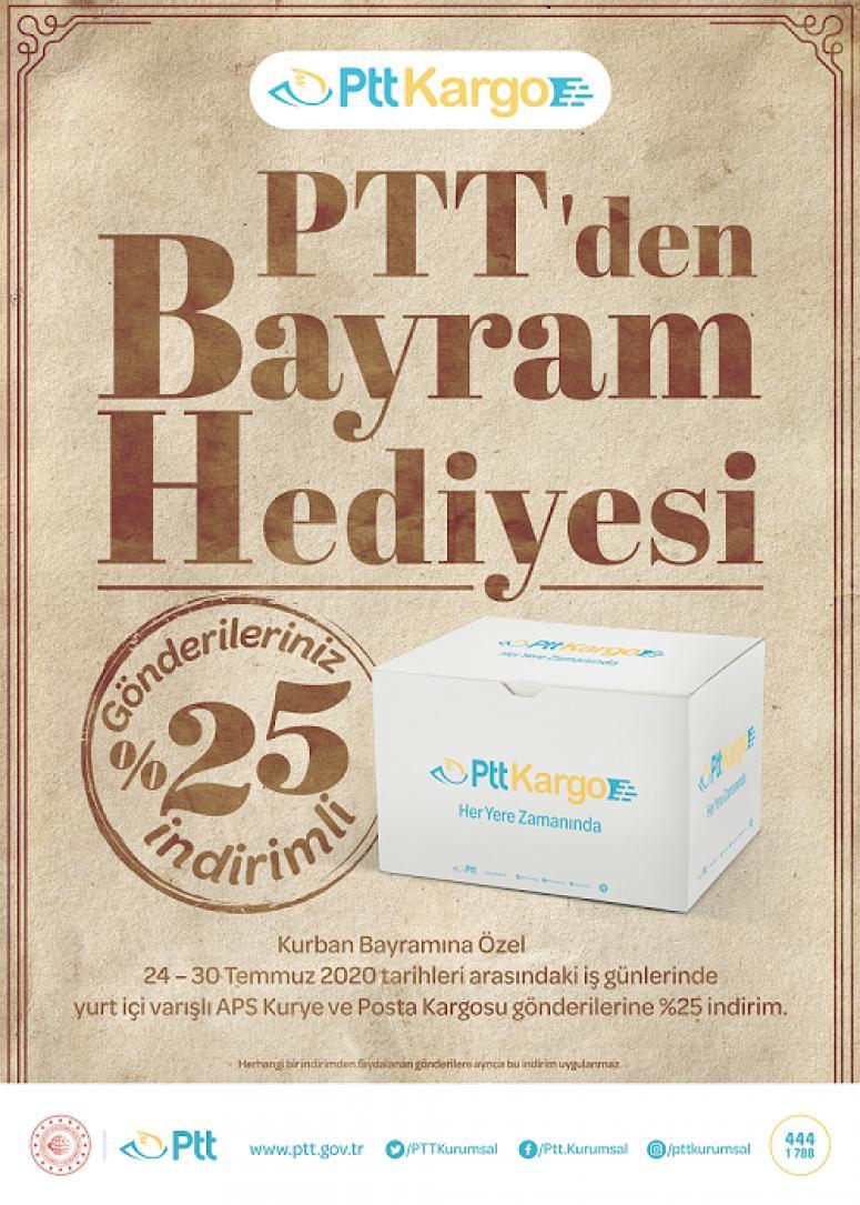 PTT'DEN BAYRAM ÖNCESİ YÜZDE 25 İNDİRİM