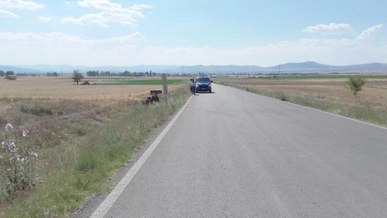 Sandıklı'da kaza