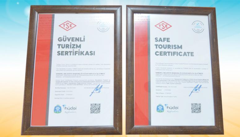 Sandıklı Hüdai Kaplıcaları Güvenli Turizm Sertifikasına kavuştu