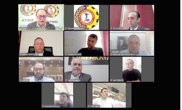 ATSO Yönetim Kurulu, video konferansla 3. kez toplandı