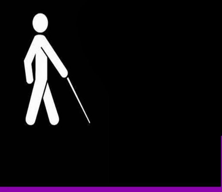 """Görme engellilerden """"Evde kal"""" mesajı"""