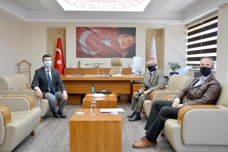 Ahmet Akın'dan Korkmaz'a ziyaret