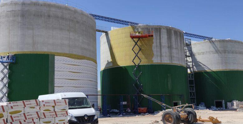 BİOGAZ tesisinin inşaat aşamasının sonuna gelindi