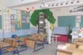 Belediye ekipleri, Emirdağ'da bütün okulları dezenfekte etti