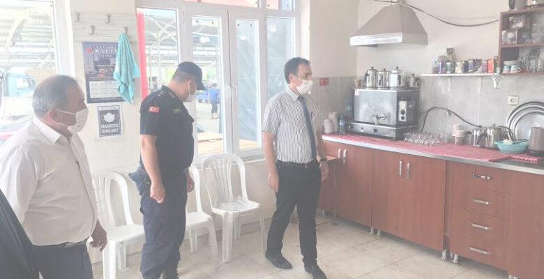 Dinar İlçesi Tatarlı Beldesinde Koronavirüs Denetimi Yapıldı
