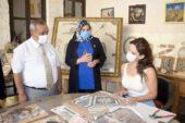 İscehisar' da üretilen portreler Gaziantep üzerinden dünyaya açılacak