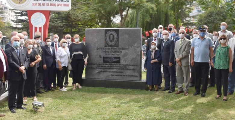Pilot Yüzbaşı Erdinç Şatırer Anıtı'nın açılışı yapıldı