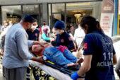 Tatile gelen küçük kız kazada yaralandı