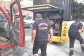 Tedbirli Davranan Otobüs şoförü Kazayı önledi