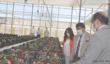 Tortop, Belediye Çiçek Serasını Ziyaret Etti