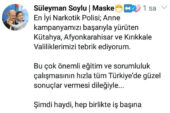 BAKAN SOYLU'DAN AFYON'A TEBRİK