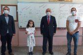 Hisarcık'ta il birincisi öğrenciye belgesi verildi