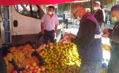 Pazarlar'da ilçe pazarı kapatıldı