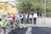 Afyonkarahisar Belediyesi'nden Bayat'a asfalt desteği