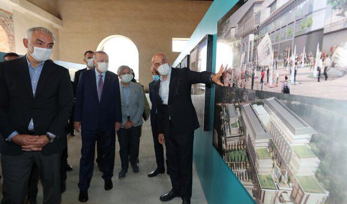 Cumhurbaşkanı Erdoğan, Tersane İstanbul'da incelemelerde bulundu