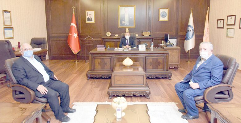 Rektör Karakaş Özserezlioğlu'nu Kabul Etti