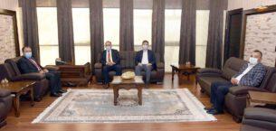 Rektör Karakaş ziyaretçilerini ağırladı