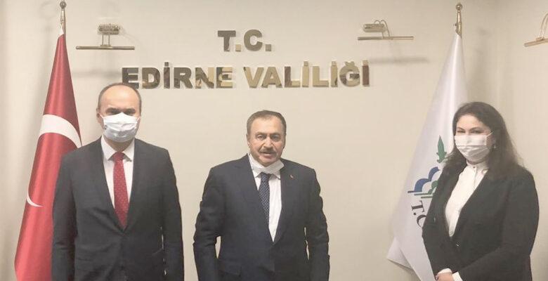 Veysel Eroğlu Edirne'de