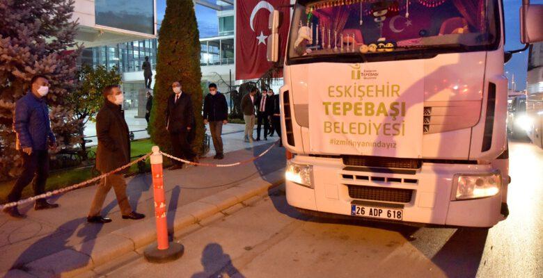 Eskişehir'den depremzedelere destek