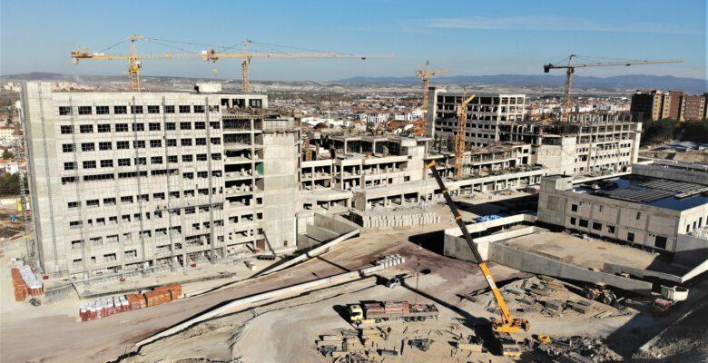Kütahya Şehir Hastanesi inşaatı havadan görüntülendi