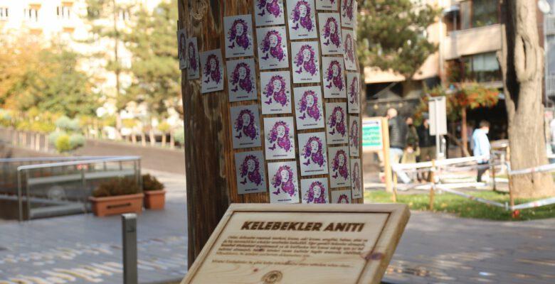 Odunpazarı'ndan öldürülen kadınlar için 'Kelebekler Anıtı'