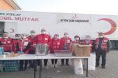 Afyonkarahisar Kızılay ekibi İzmir'in yanında
