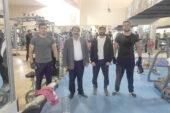 Başkan Sarı Kapalı Spor Salonu Tesislerini ziyaret etti