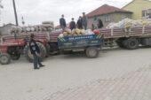Köylüler İzmirli depremzedelere 3 ton patates yolladı