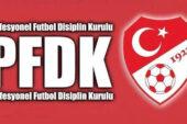 PFDK kararları açıklandı takımlara ceza yağdı