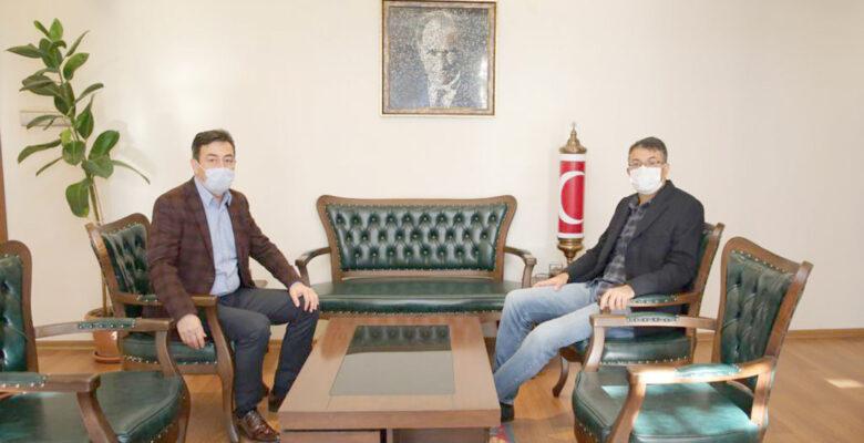 Vali Çelik'ten Müdür Ali Temiz'e iade-i ziyaret