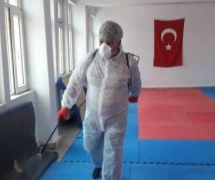 Halk Eğitim Merkezi Müdürlüğü dezenfekte çalışmaları
