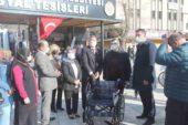 70 mahalle muhtarına tekerlekli sandalye dağıtıldı