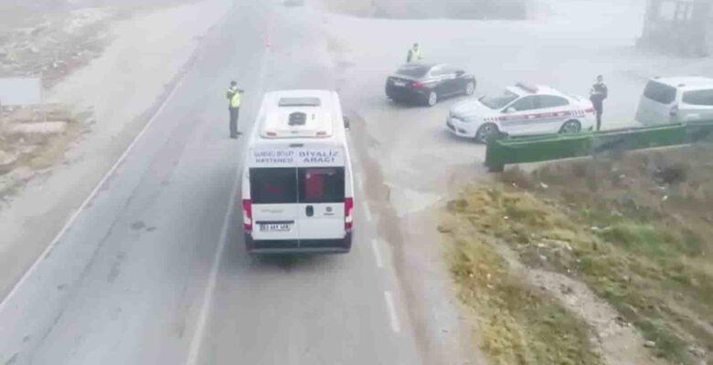 Ehliyetsiz sürücüyü jandarma drone ile havadan yakaladı