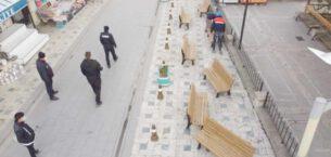 Emirdağ'da Banklar Söküldü