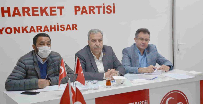 Kocacan, MHP'li başkanlarla istişare yaptı