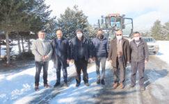 Başkan çoban karla mücadele ekiplerini yalnız bırakmadı