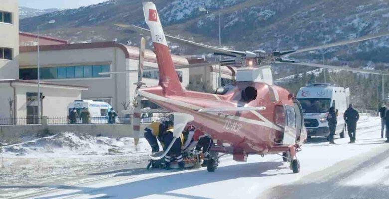 Hava ambulansı hasta nakli gerçekleştirdi