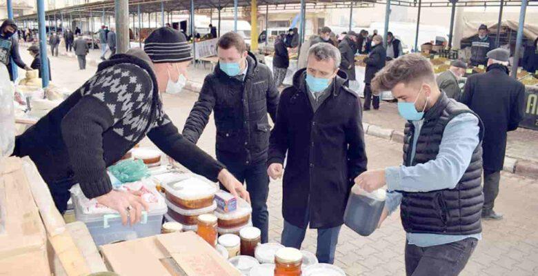 İscehisar'da pazarda hijyen denetimi yapıldı